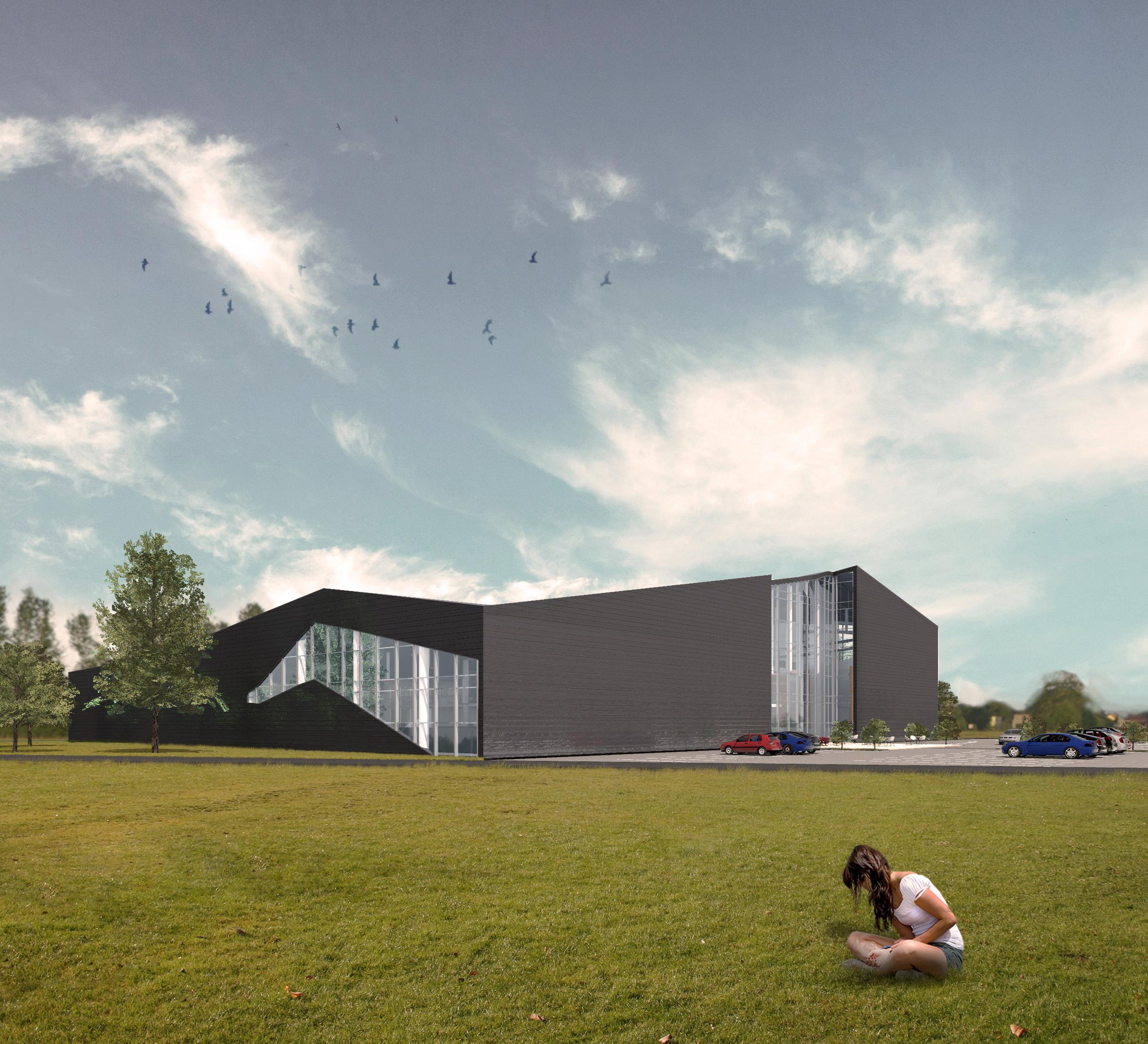 apogeum, centrum sportowe, architekt katowice, elewacja, atlierps