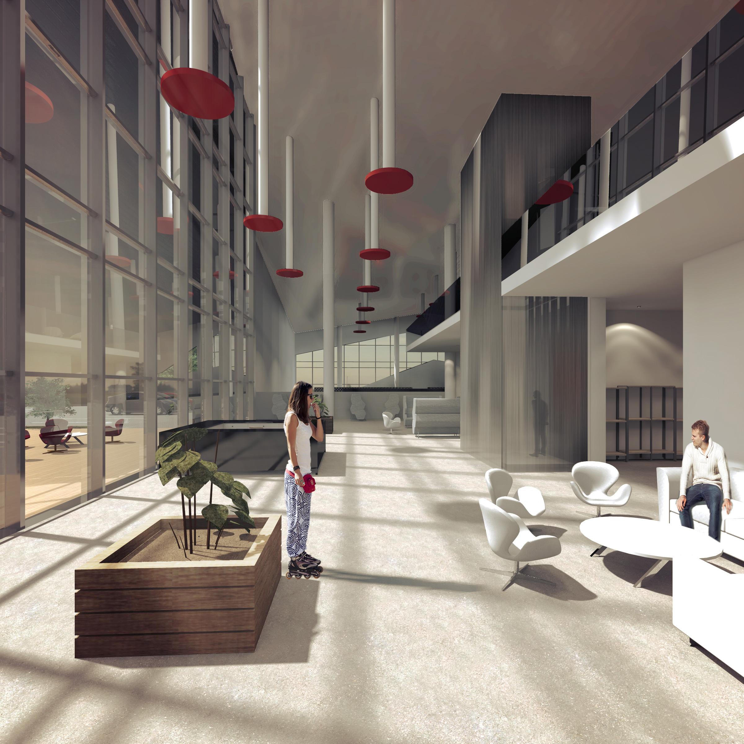 apogeum, centrum sportowe, wnetrze, biuro projektowe, lounge, chill