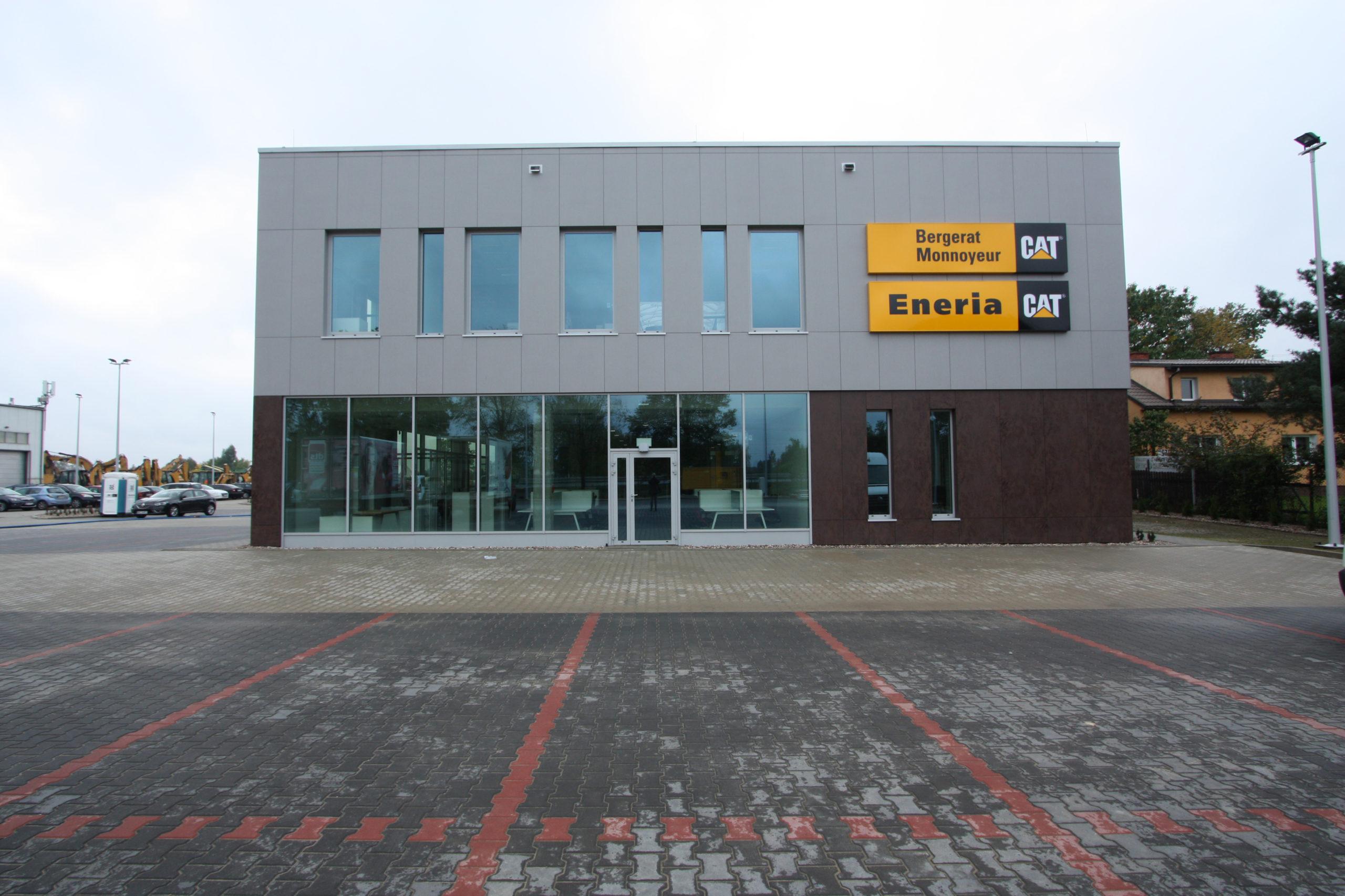 bergerat monnoyeur, budynek biurowo-serwisowy, caterpillar, realizacja, architekt