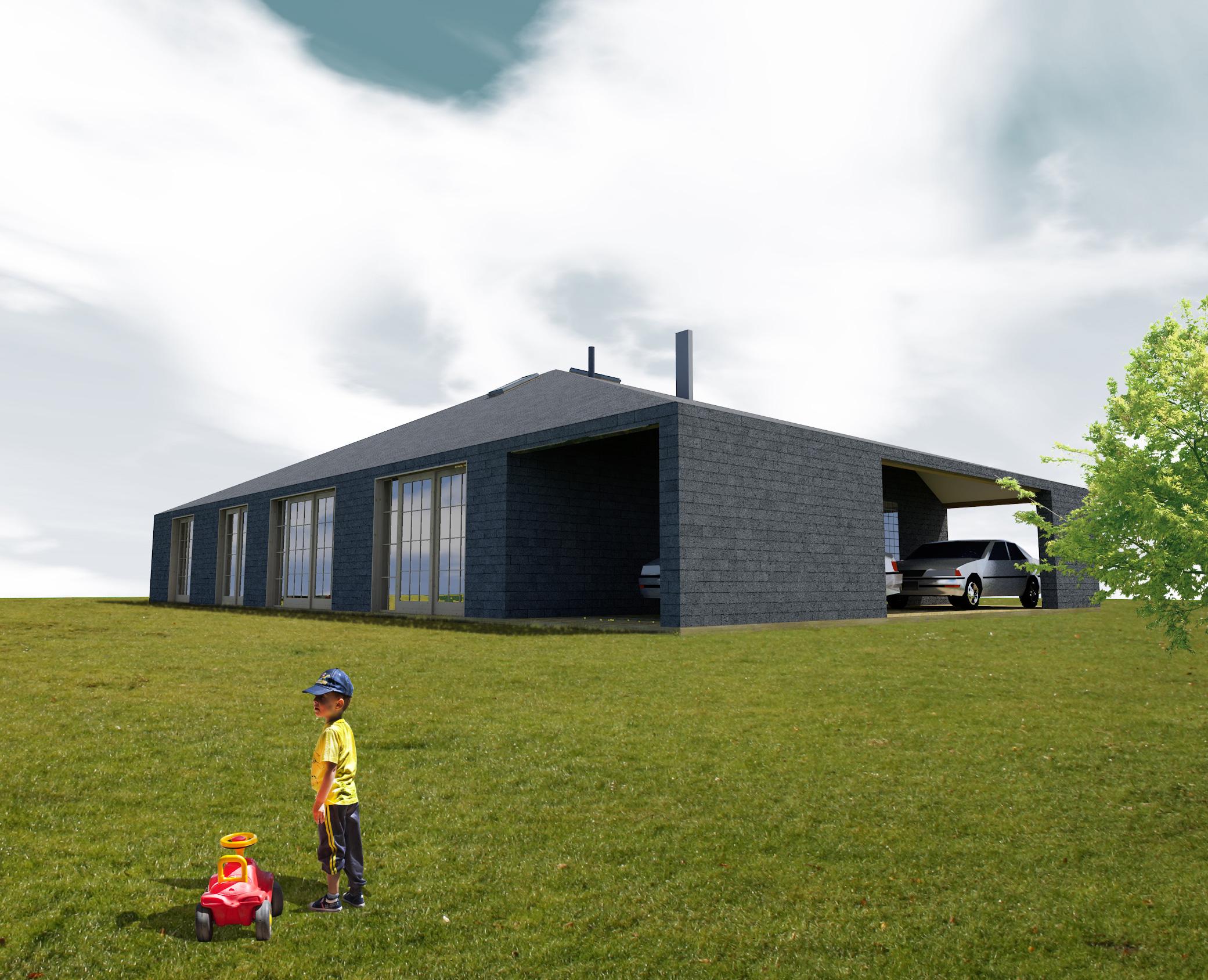 dom prosty, elewacja, architekt slask