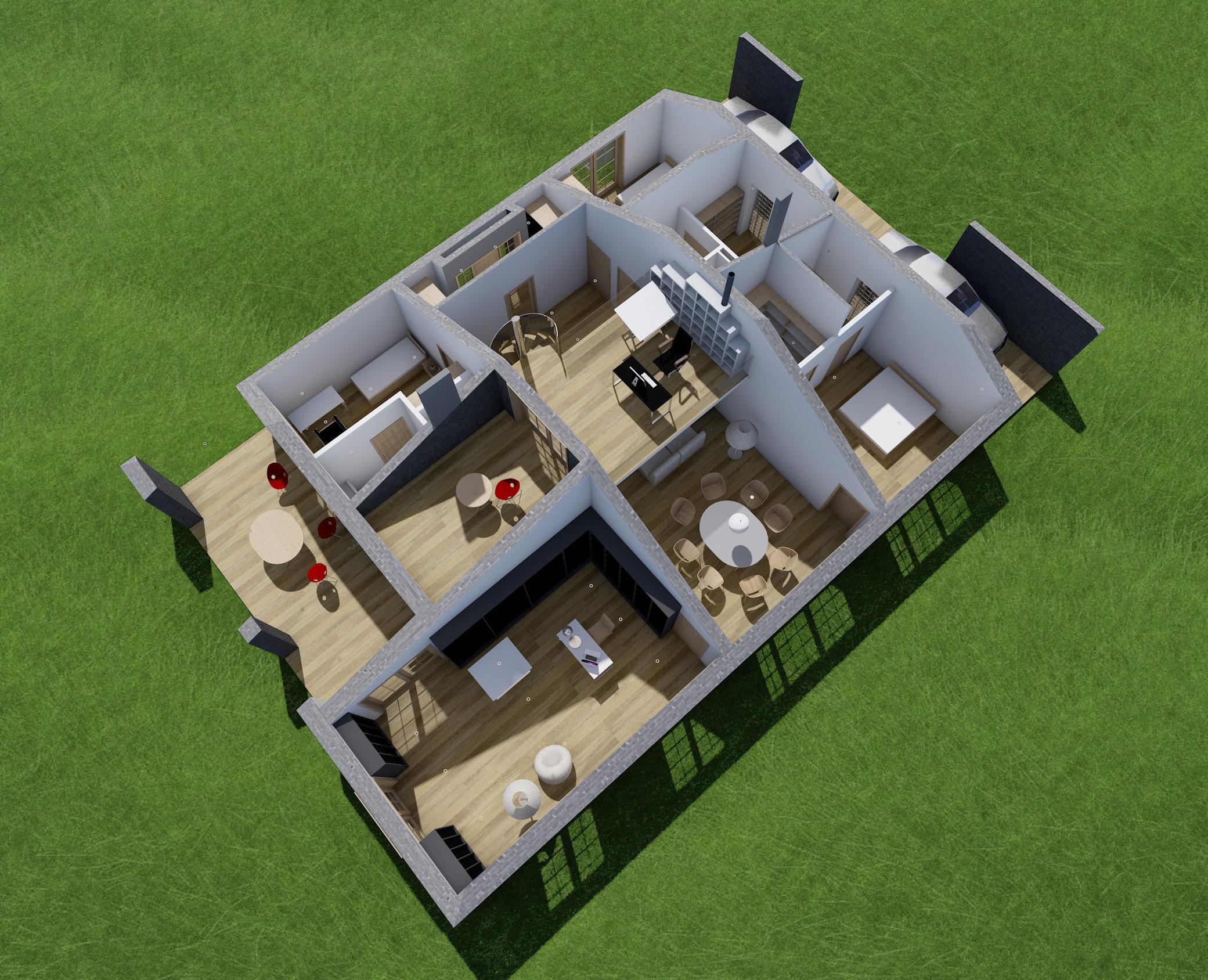 dom prosty, rzut, dom jednorodzinny, studio projektów