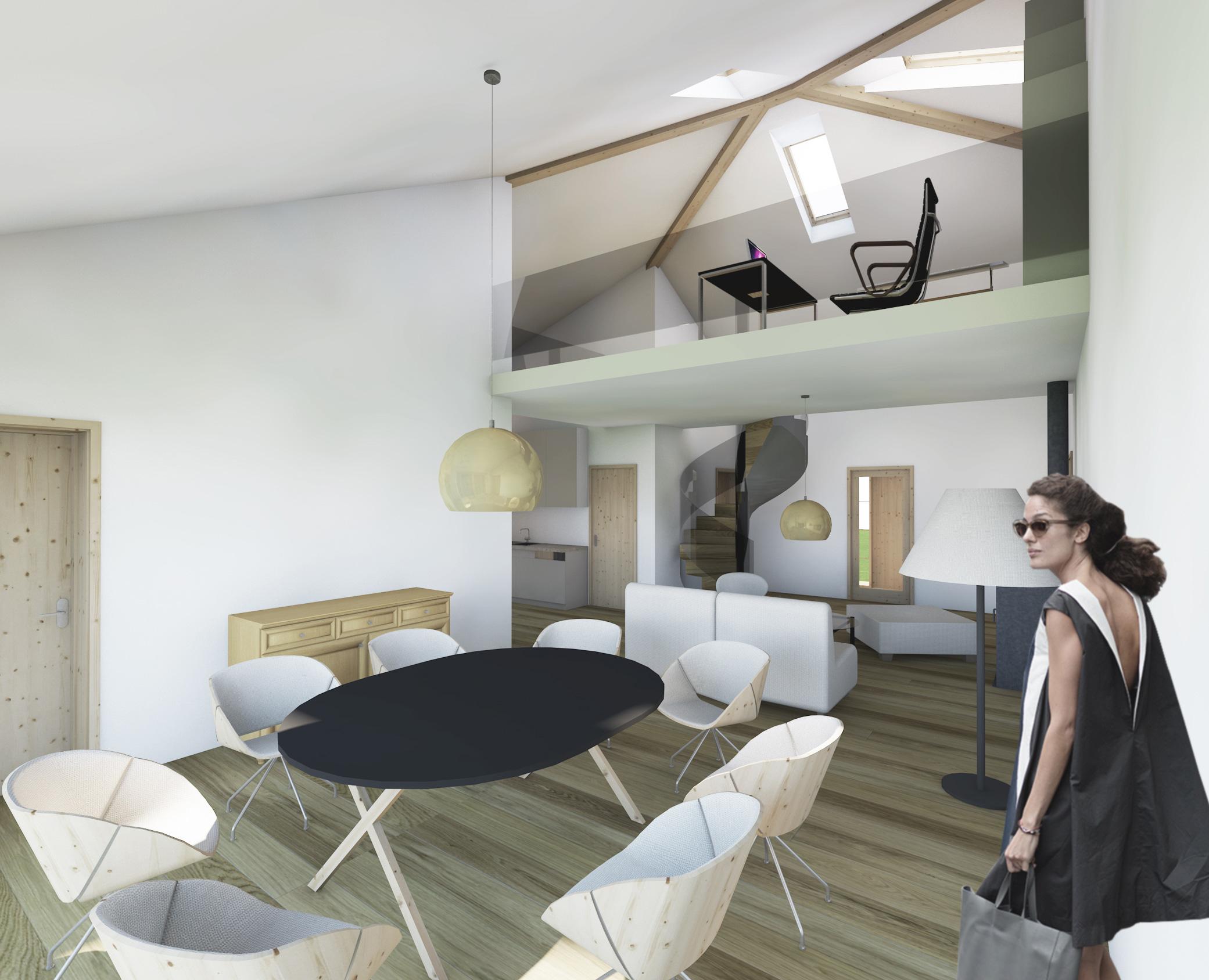 dom prosty, bojszowy, wizualizacje, architekt katowice, atelierps