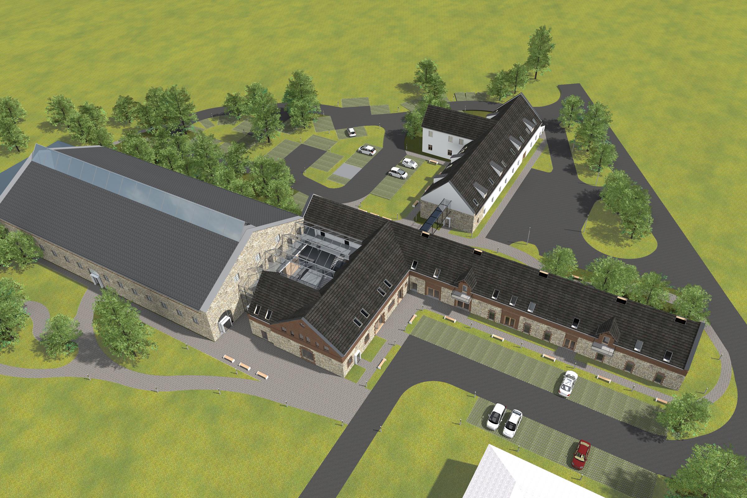 hotel, palac donnesmarckow, widok z lotu ptaka, architektura murator