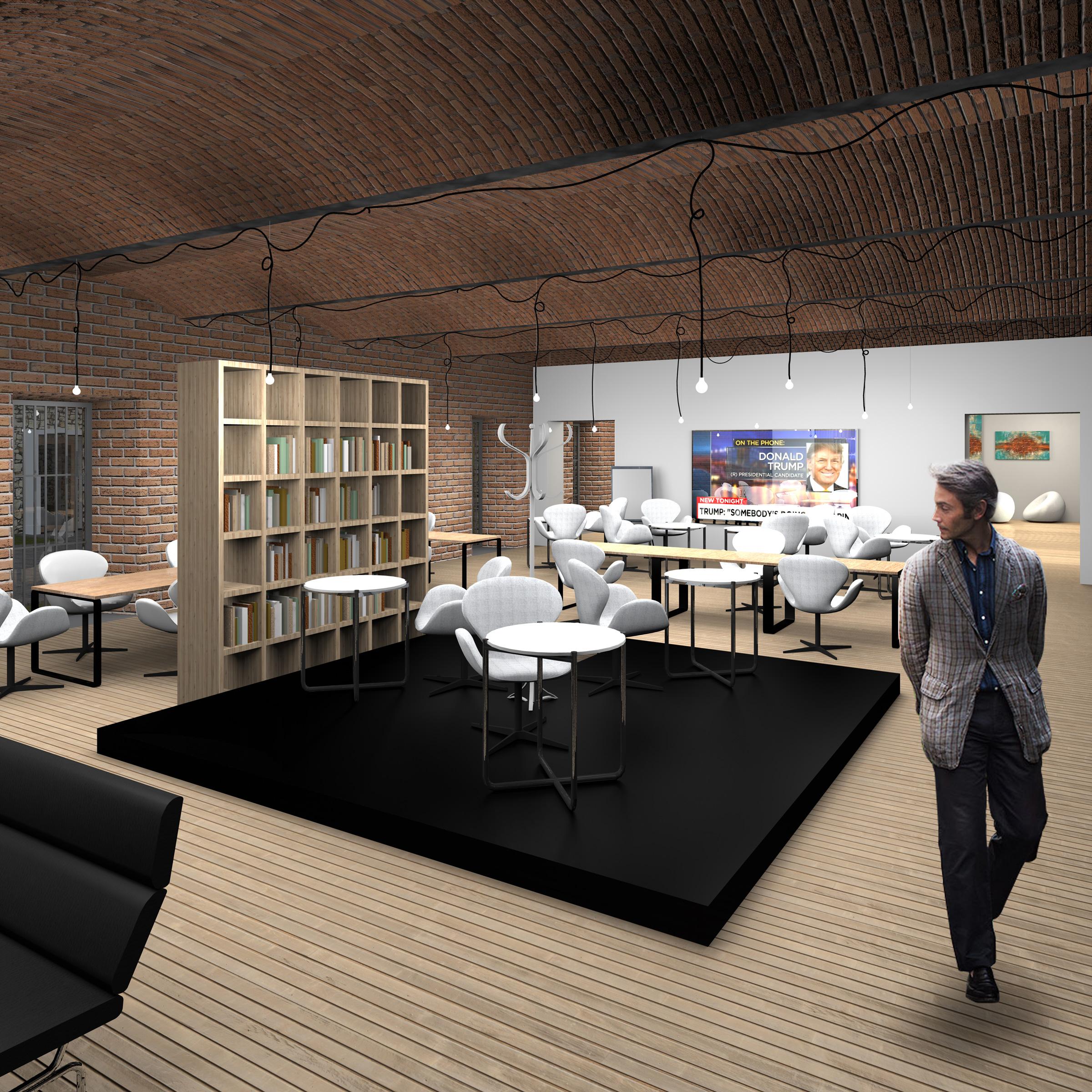 hotel, palac donnesmarckow, lobby, wnetrze, architekt katowice