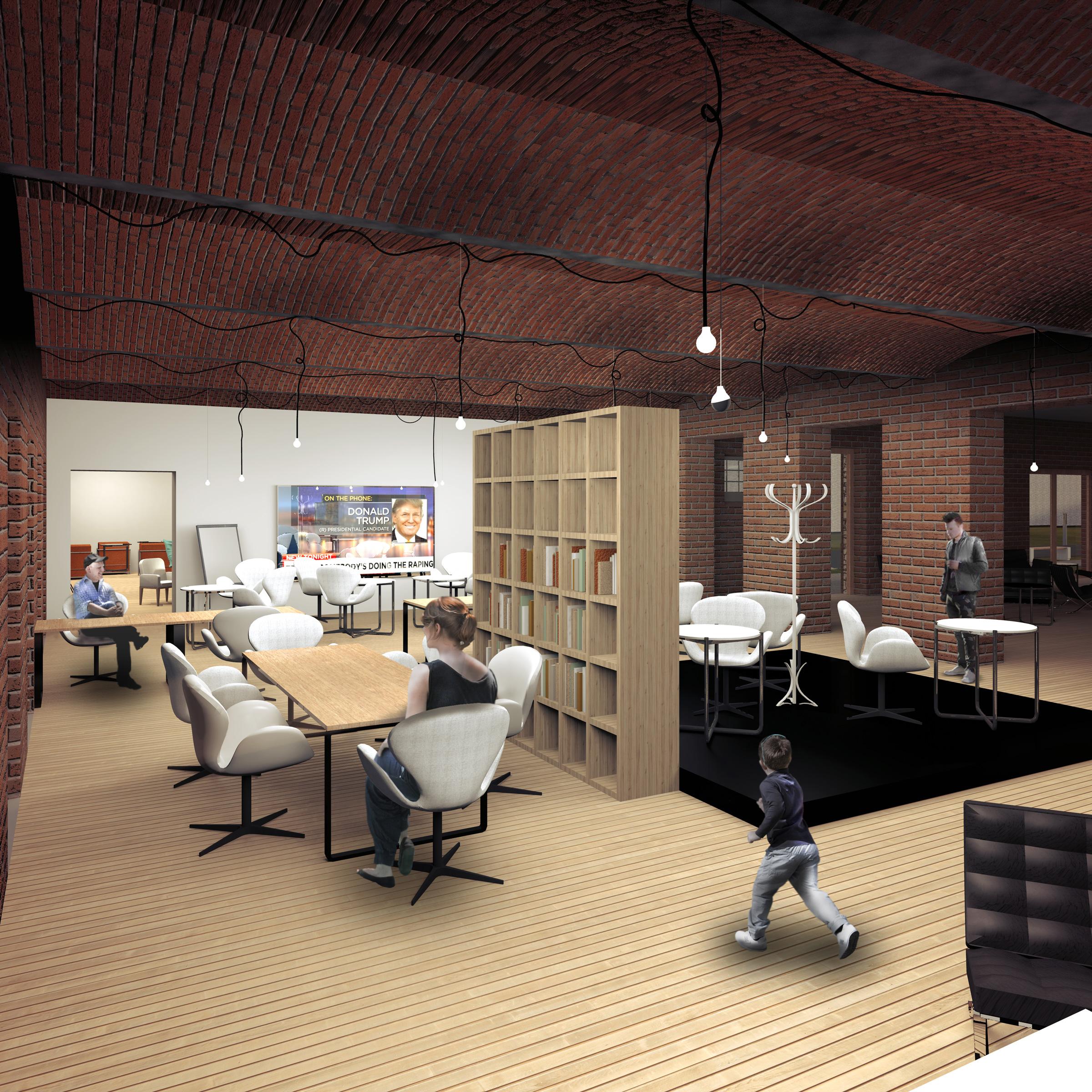 hotel, palac donnesmarckow, lobby, wnetrze, biblioteka