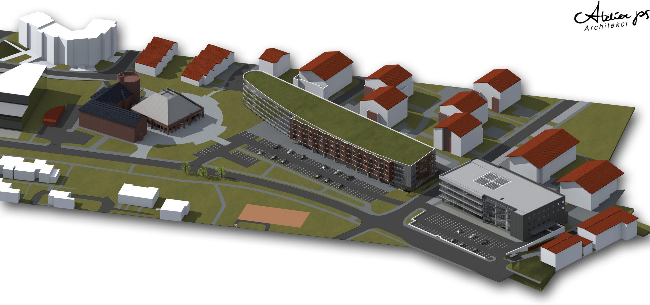 hybryda, biurowiec, projekt budowlany