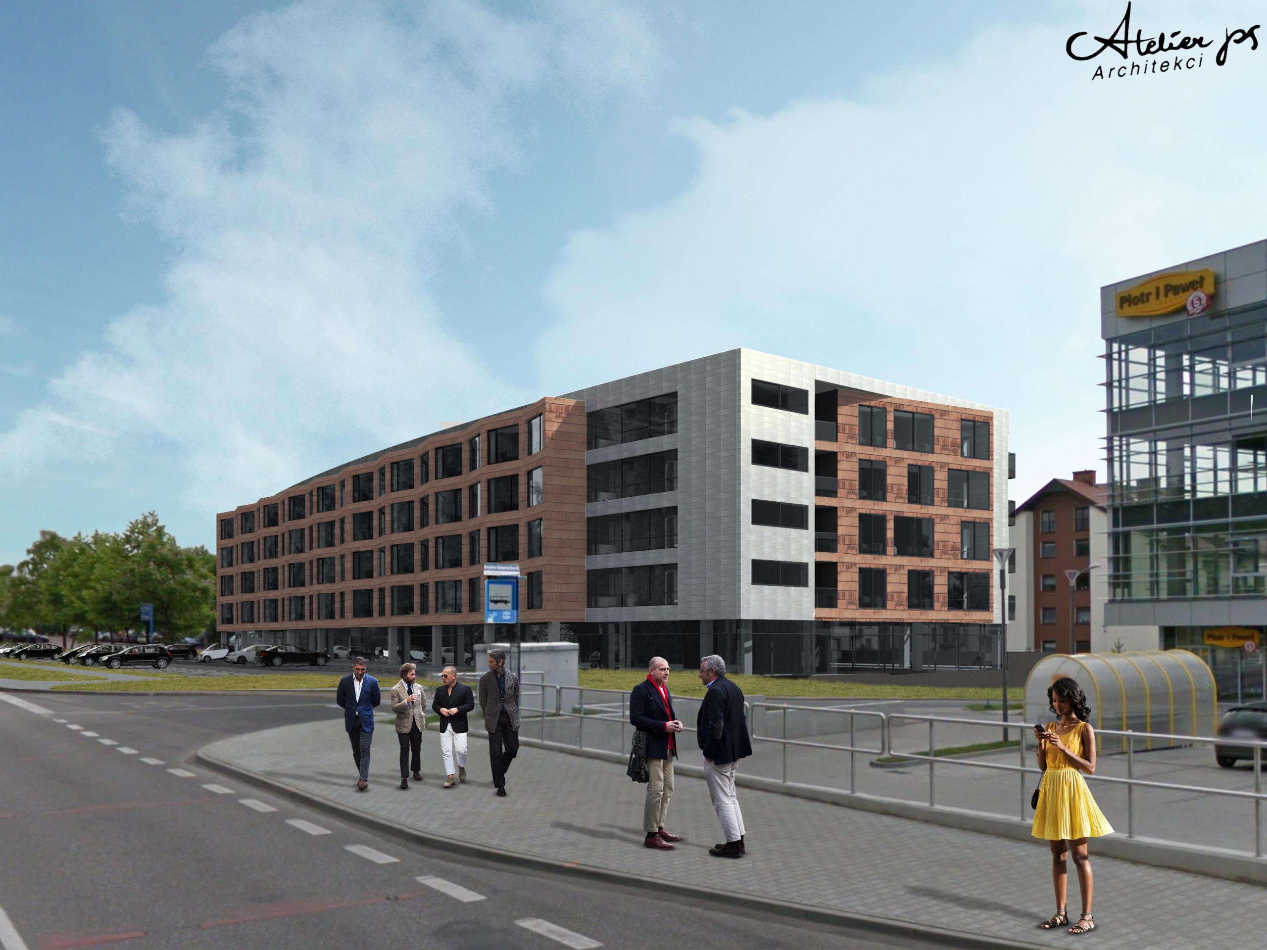 hybryda, budynek mieszkalny, biurowiec, atelierps, projekty