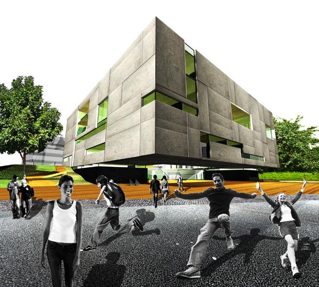 konkurs, budynek dydaktyczno-badawczy, kulturalny, asp, katowice, atelierps