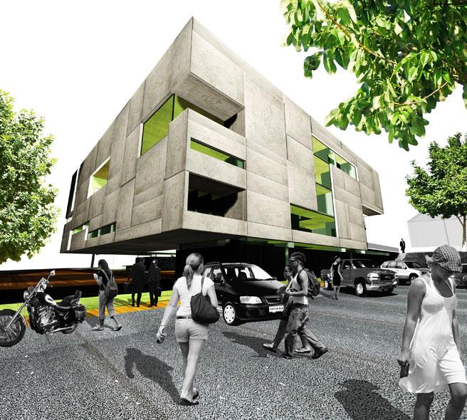 konkurs, budynek dydaktyczno-badawczy, kulturalny, asp, katowice, parking