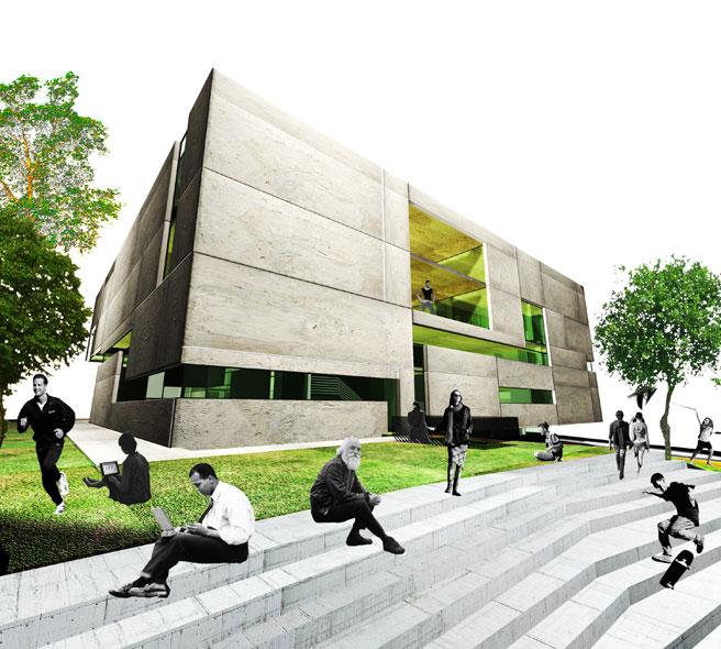 konkurs, budynek dydaktyczno-badawczy, kulturalny, asp, katowice, schody