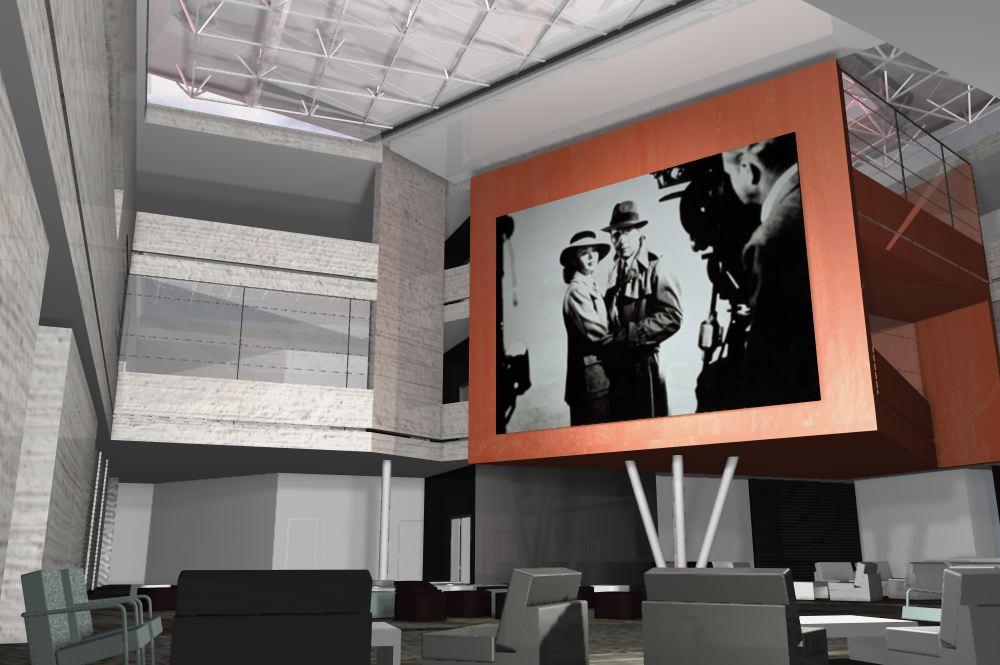 konkurs, budynek wydzialu radia i telewizji, katowice, lobby