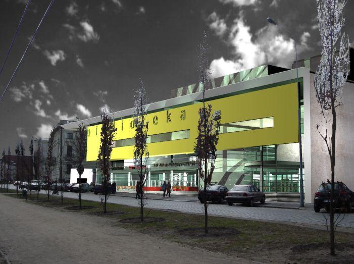 konkurs, rozbudowa biblioteki raczynskich, poznan, atelierps, elewacja