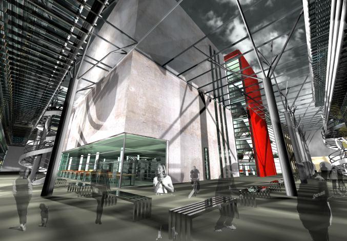 konkurs, rozbudowa biblioteki raczynskich, poznan, podworze