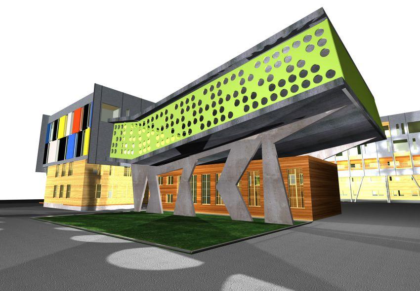 rozbudowa, wyzsza szkola techniczna, wst, katowice, wizualizacja, wsparcie hali