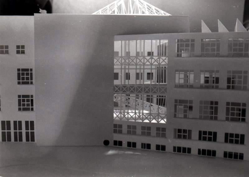 Rozbudowa wydzialu grafiki asp, krakow, filia katowice, koncepcja, elewacja