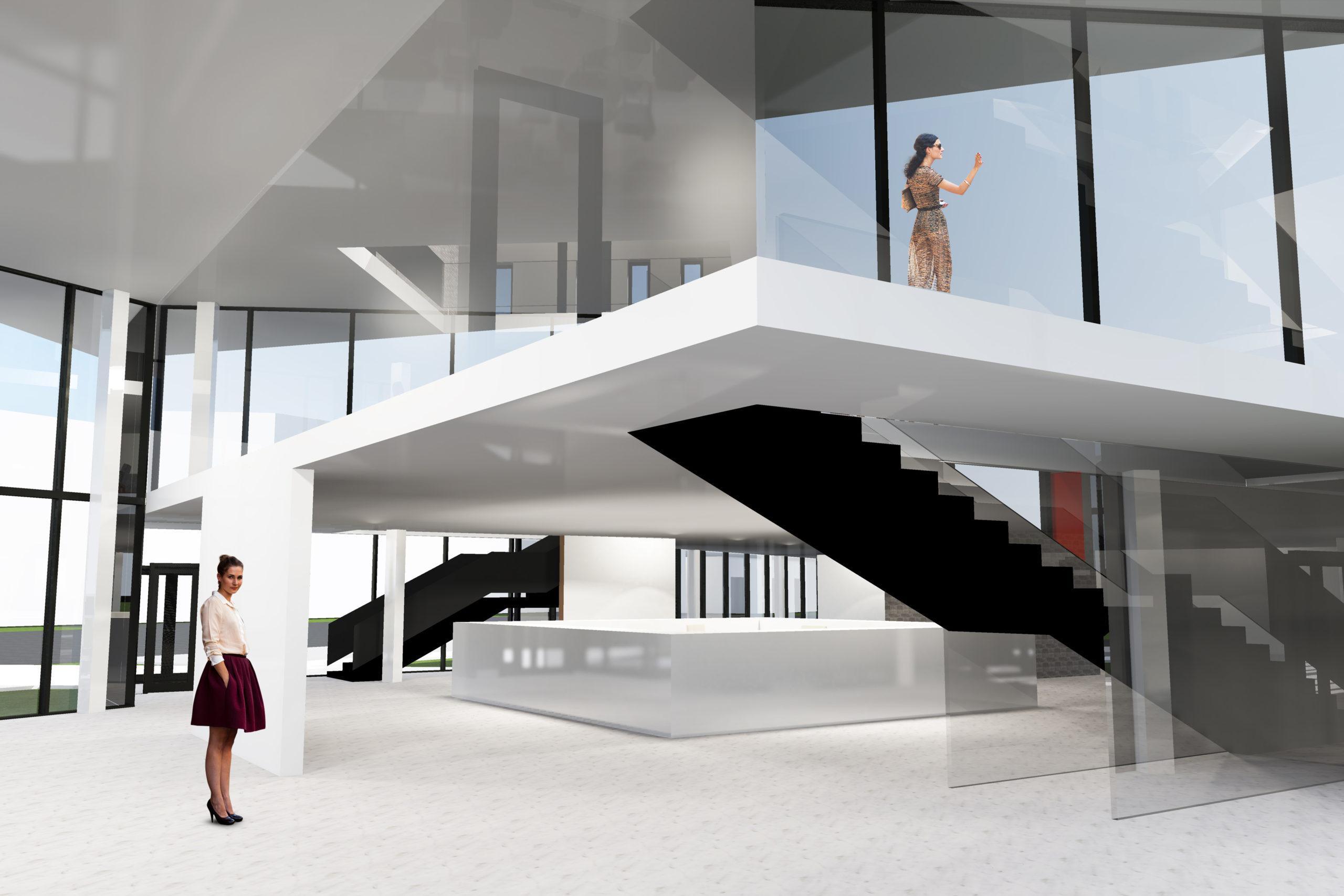 salon meblowy, katowice, 2016, black&white, biuro projektowe