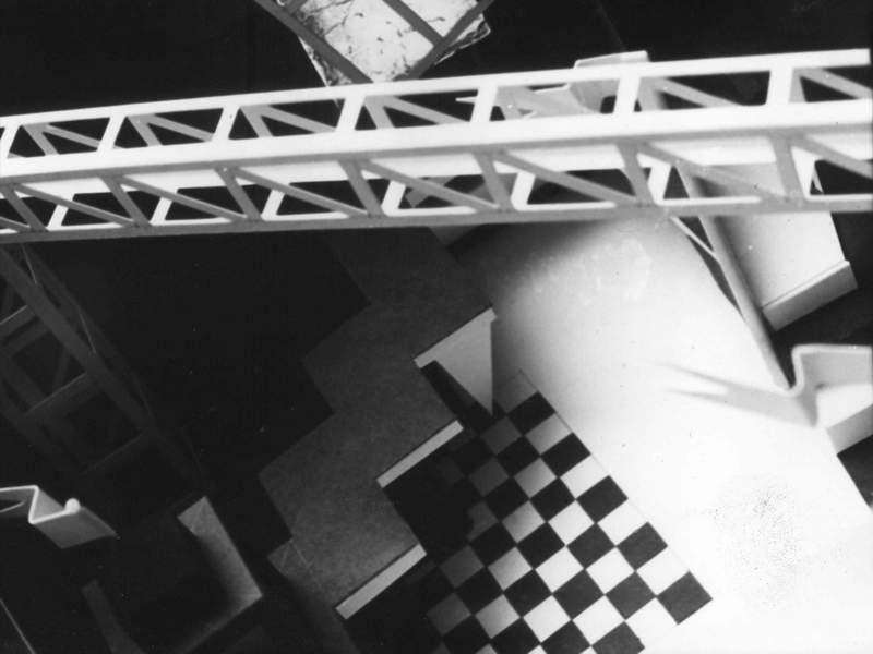 wnetrze, bar1, krakow, black&white, kratka